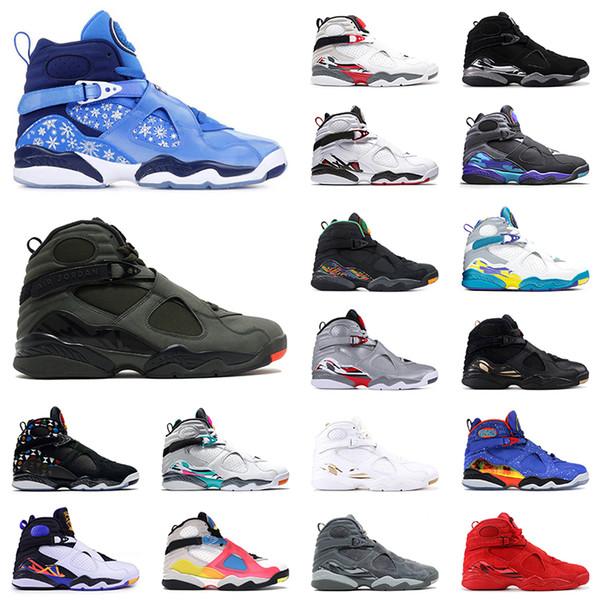 top popular Top Quality 8 8s Jumpman Basketball Shoes Retro Snowflake SatinJordan GS Take Flight GS Take Flight Mens Sports Sneakers 2021