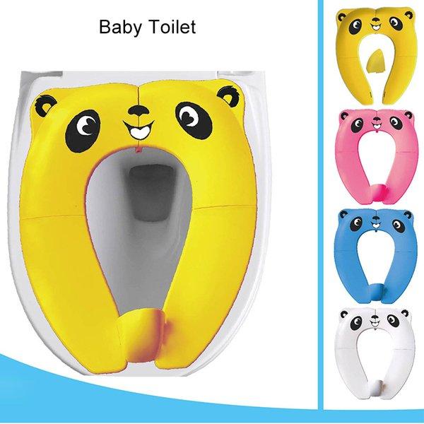 top popular Portable Children's Folding Potty Seat toddler Baby Toilet Training Seat Children Urinal Cushion For Kids Pot Chair Pad Mat LJ201110 2021