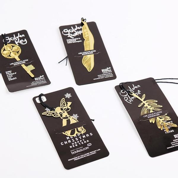 top popular Cute Kawaii Gold Metal Bookmark Vintage Key Feather Angel Bookmarks Paper Clip For Book Korean Statio jllhkb 2021