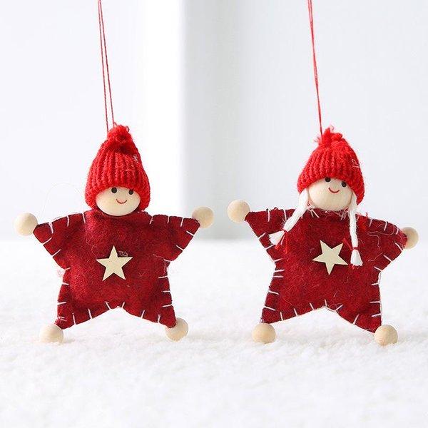 2 pcs-red star