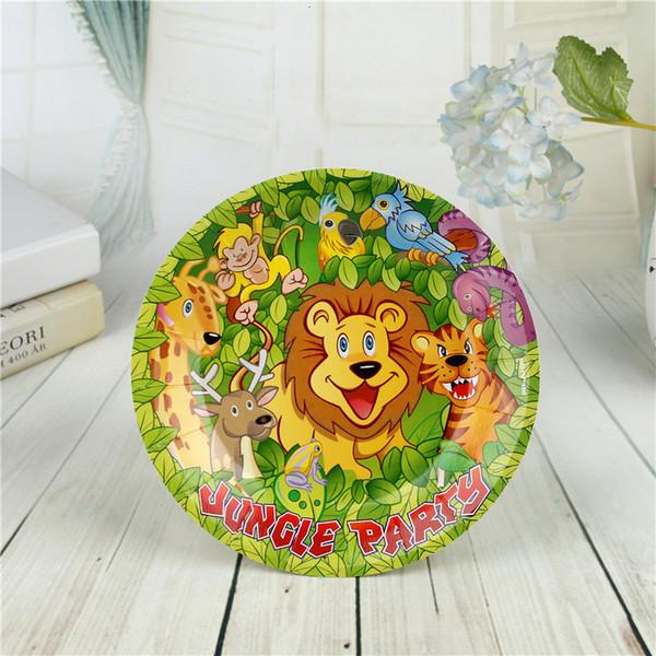 best selling Birthday Jungle animal Safari party Happy decor tropical decoration anniversaire garcon gift set kids favors d