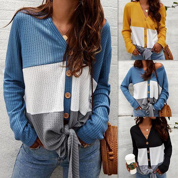 best selling Knitwear Women Europe and America Sweater Womens Base Shirt Long Sleeve sweatshirt Ladies Top V-neck women hoodies Cardigan