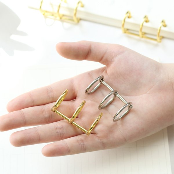 top popular Cheap Binding Combs & Spines 2PCS Retro Metal Loose Leaf Book Binder Hinged Ring Binding Rings Calendar Circle 3 Rings for Notebook 2021