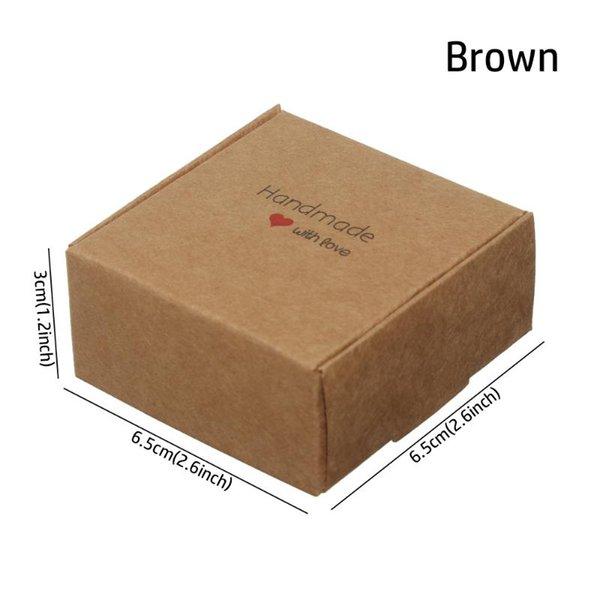6,5x6,5x3 cm braun