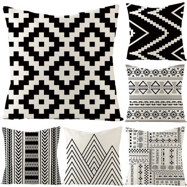 top popular Geometric Patterns Pillow African 2021