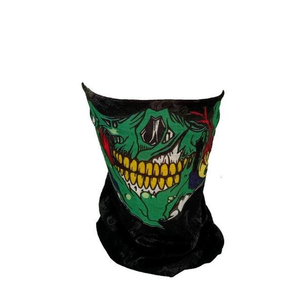 Schädel grüner Mund