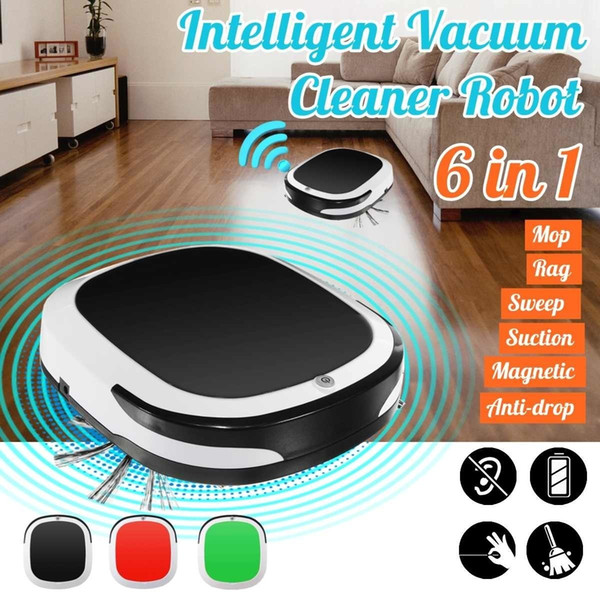 top popular Rechargeable Smart Robot 2000PA Vacuum Cleaner Dry Wet Sweeping Cordless Auto Dust Sweeper Machine for Home Cleaning Y200320 2021