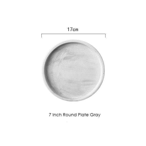 7 Inch Round Gray