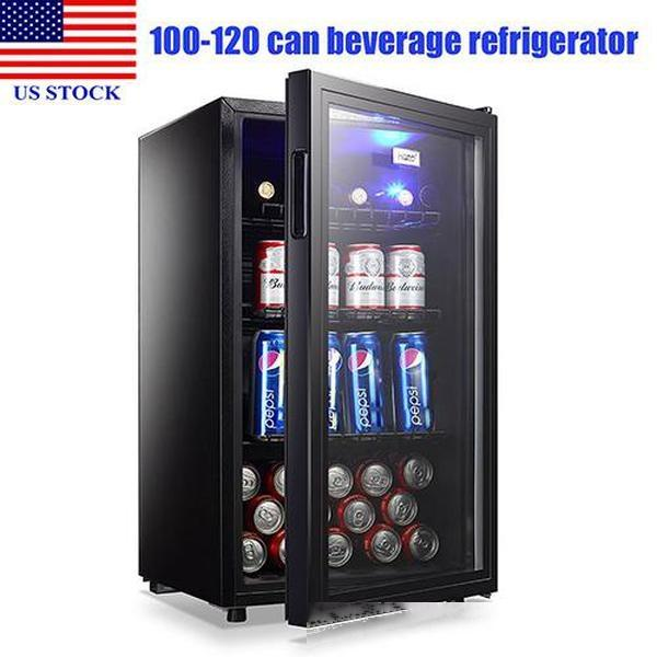 top popular Portable Freezers Compact Refrigerator Wine Fridgee 120 Can Capacity Beverage Refrigerator Shelves Household Appliances C0105 US STOCK 2020