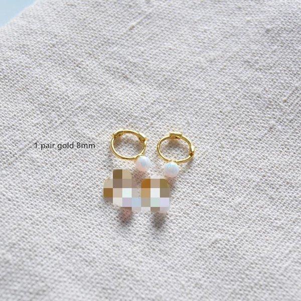 1 Paar Gold 8mm