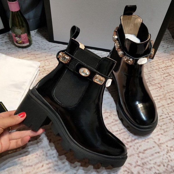 best selling Spring and autumn short boots women's high quality leather versatile Martin boots British fashion women's Black Ankle Boots female designer