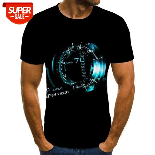 top popular Spiral geometry 3D print T-shirt summer top new men's Multi Size stacked solid T-shirt short sleeve o-neck beach #5S3V 2021