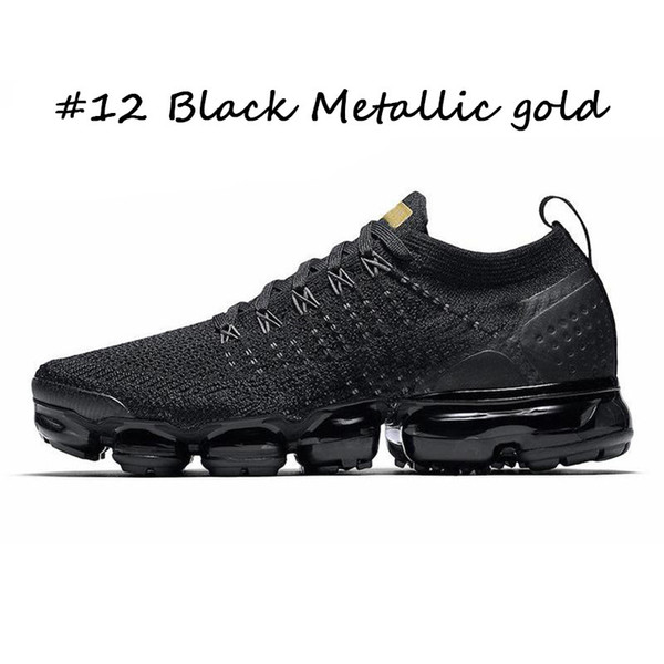 # 12 Black Metallic Gold36-45