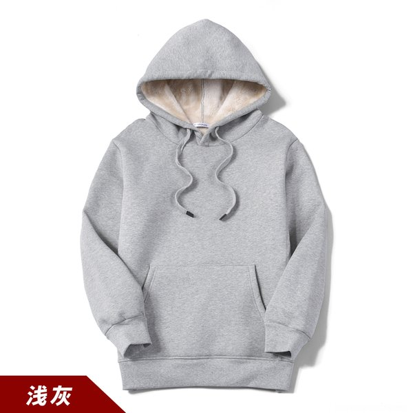 Wy202 Cashmere Hooded Light Grey Sweater