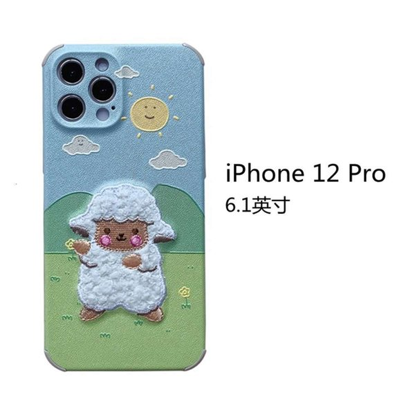 Iphone 12 Pro Embroidery Prairie Sheep