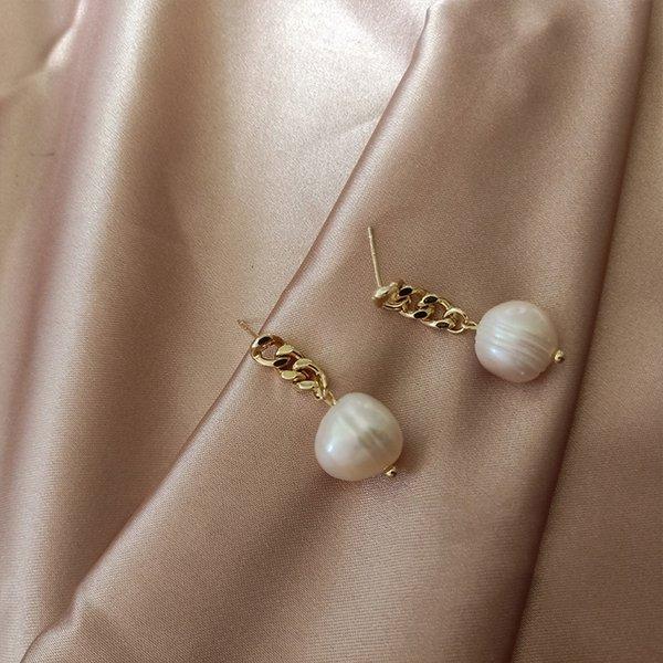 Pendientes de perlas naturales # 96161