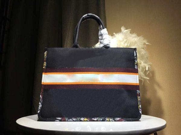 top popular 2020 Classic shopping bag cherry blossom flowers cavans Designer handbag D bookbags Printed embroidered bag Book Tote large capacity n ZgAy# 2020
