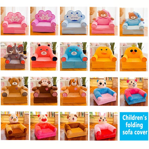 best selling Children small sofa cartoon princess girl baby folding seat recliner boy single lazy sofa bed