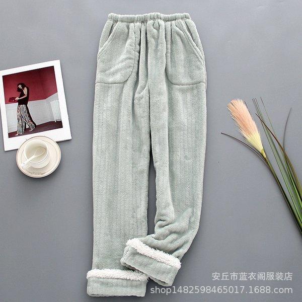 Fasulye yeşil ile dikişli kaşmir pantolon
