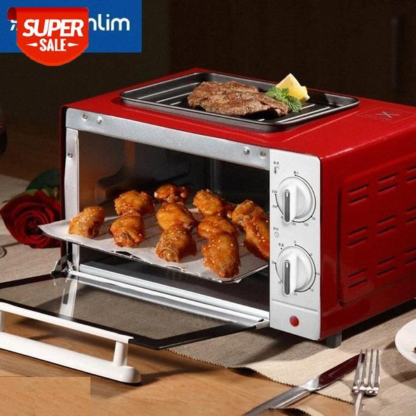 top popular Mini Oven 12L Electric Recessed brass Electric Range Oven electric built-in Household appliances for kitchen kebab gaz oven #O95A 2021