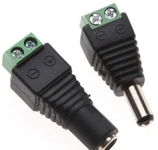 top popular Cheap Connectors 5pcs Female +5 Pcs Male Dc Connector 2.1*5.5mm Power Jack Adapter Plug Cable Connector For 3528 5 wmtkJm dh_garden 2021
