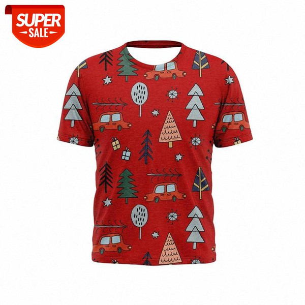 best selling 2021 new 3D printed men's t-shirt Christmas car tree pattern stylish and handsome t-shirts for boys and girls #pw0z