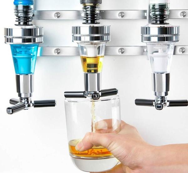 top popular 4 Bottle Bar Beverage Liquor Dispenser Alcohol Drink Shot Cabinet Wall Mounted With 6 Screws wholesale 2021