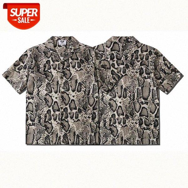 top popular Men's Blouses Men's Printed Leopard Print Loose-fitting Cardigans Short-sleeved Shirts T-shirt Men Design Shirt #qe7h 2021