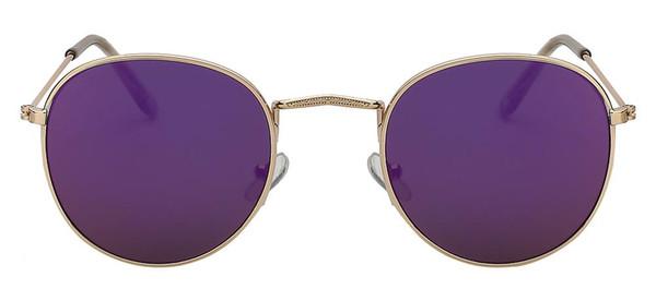 Gold purple mirror