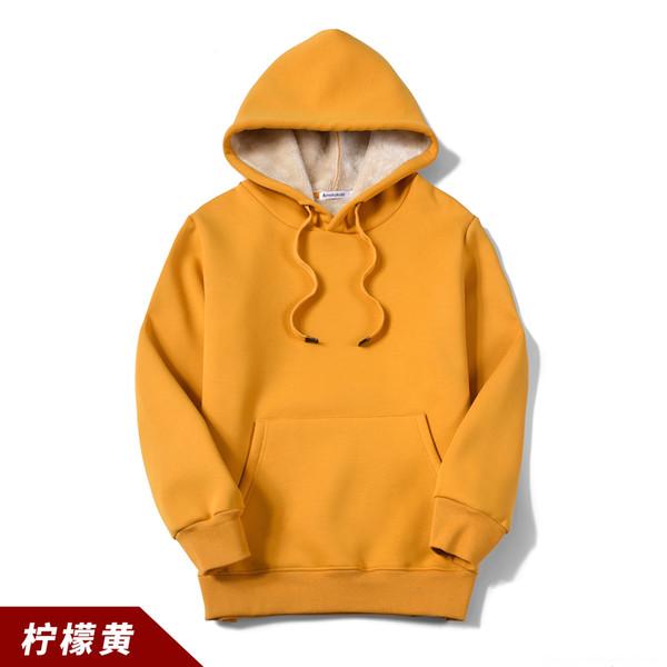 Wy202 Cashmere Hooded Lemon Yellow Sweat