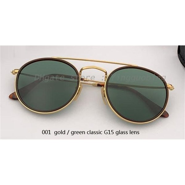 001 ouro / verde clássico G15 lente