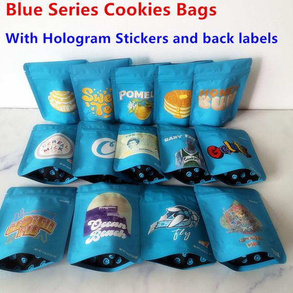 6 개 블루 시리즈 쿠키 가방