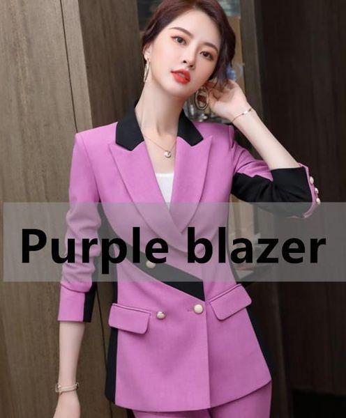 Purple blazer