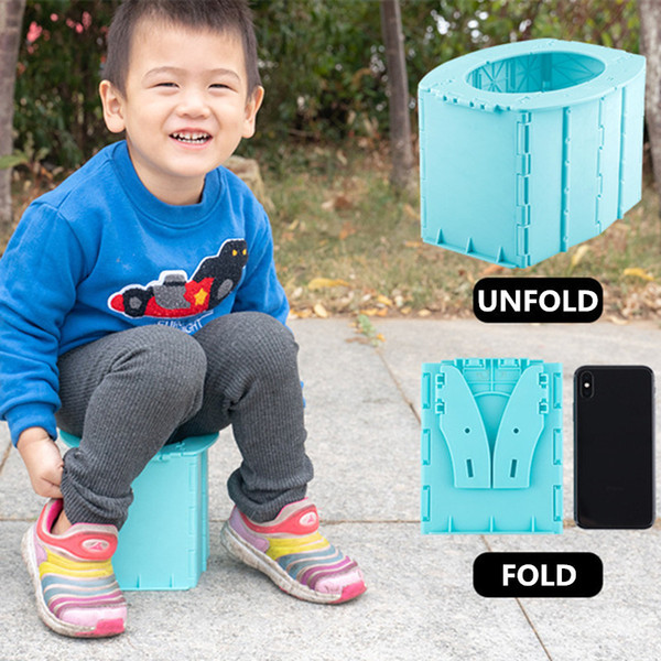 best selling Safety Portable Baby Outdoor Travel Pots Boy Girl Foldaway Toilet Basin Potty Car Travel Baby Folding Potty Kids Training Toilet LJ201110