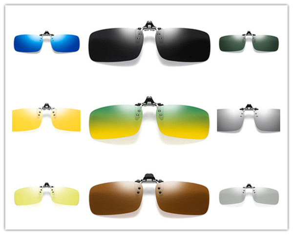 top popular Day And Night Polarizer Clamping Piece Wholesale Male And Female Drivers Driving Night Vision Sunglasses Clamping Piece Shortsighted Sunglas 2021