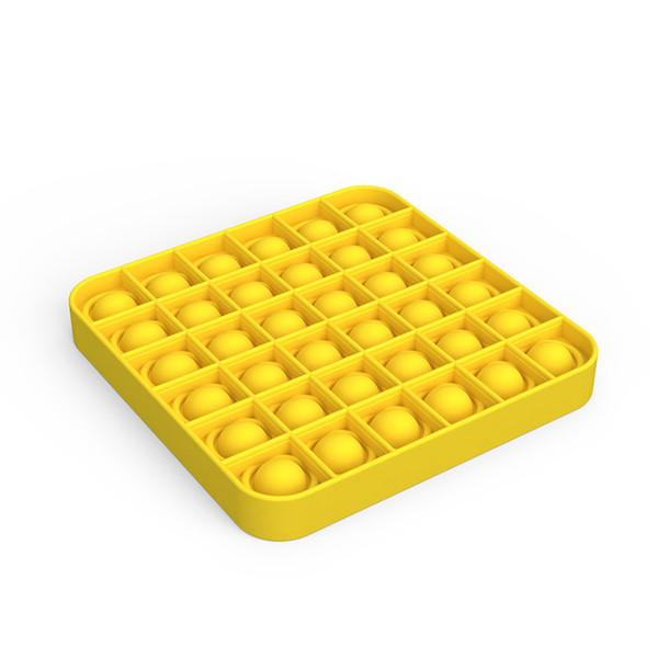 top popular Pop It Fidget Toy Sensory Push Pop Bubble Fidget Sensory Toy Autism Special Needs Anxiety Stress Reliever Remark the Color 2020