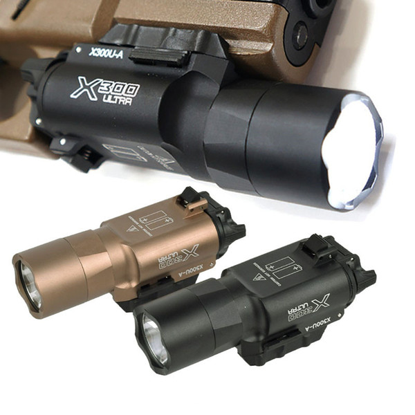 best selling 500 Lumens High Output Tactical X300 Ultra Light X300U Tactical Light Lanterna Flashlight 1911 Light for Outdoor Hunting