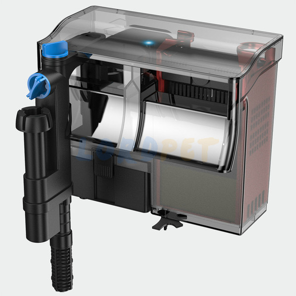 best selling SunSun Aquarium Hang On UV Lamp Waterfall Filter 5W UVC Light Skimmer Oil Film External Filter Filter Media Free Fish Tank Y200917