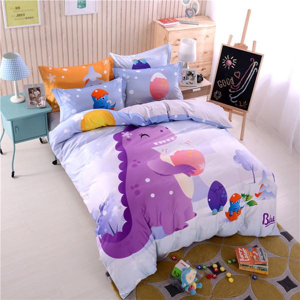 top popular Hot Selling 3D Kids Bedding Sets Cartoon Unicorn Printed Single Twin Full Queen King Girls Guilt Cover Duvet Cover Pillow Cases Sheet Set 2021
