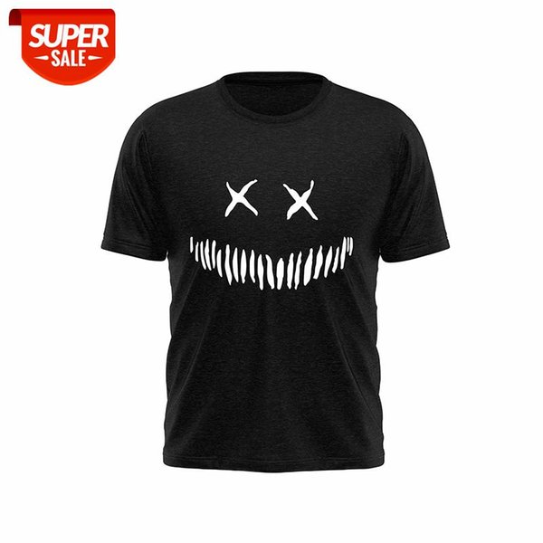 top popular 2021 New Men's T-shirt Men's And Women's Printed T-shirt Smiley Face Cotton Casual Can Be Customized XS-XXL #RJ9O 2021