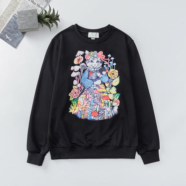 top popular 2020 Designer Sweatshirts Hoodie mens women Long Sleeve exotica Shirts Autumn Spring luxury clothing Cat Printed pineapple Casual Sweater 2020