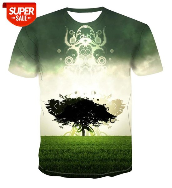 best selling 2020 new Beige geometric green T-shirt for men 3D T-shirt printing Unisex casual top new Harajuku Blue Short Sleeve for #HX9T