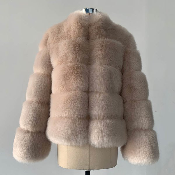 Apricot Fox Fur Coat