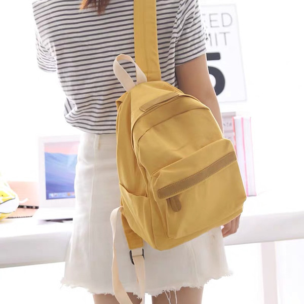 top popular new arrived school bag women fashion backpack Contracted design 2021