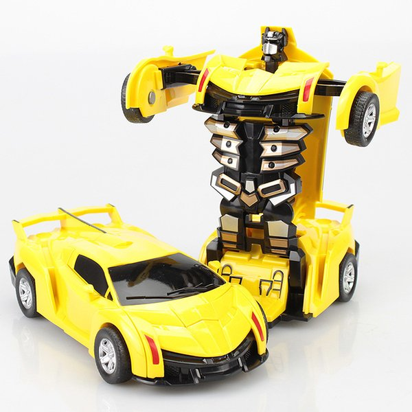 top popular 2020 Hot style RC Car Transformation Robots Sports Vehicle Model Robots Toys Cool Deformation Car Kids Toys Gifts For Boys Kids 2020