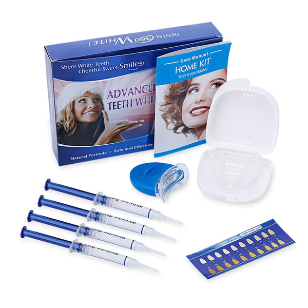 best selling Teeth Whitening Kit with 4 Gel 2 Tray 1 Light for Oral Hygiene Dental Care Bleaching