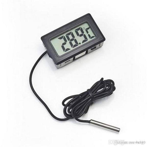 top popular Wholesale Mini Digital LCD Temperature Instruments Electronic Thermometer Sensor Temp Tester Durable Precise Digital Temp Meter DH1235 T03 2021