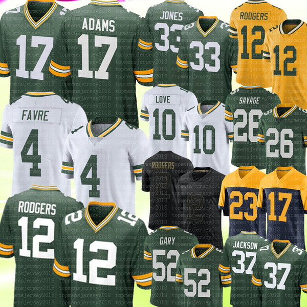 best selling 17 Davante Adams 12 Aaron Rodgers Jersey 4 Brett Favre Aaron Jones Love Darnell Savage Jr. Rashan Gary Josh Jackson Kevin King Jerseys