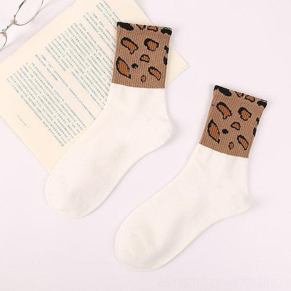Chaussettes blanches léopard