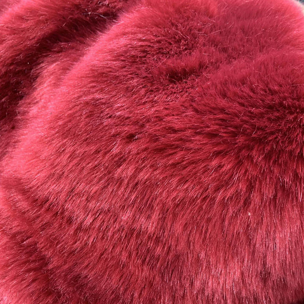 Wine Red Fur Coat